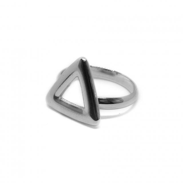 Anillo Acero Triángulo