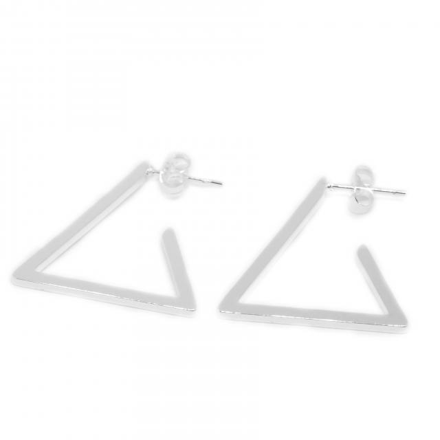 Aros Acero Blanco Triángulos Chatos
