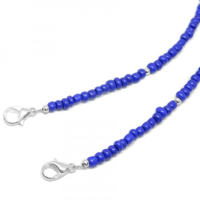 Holder Acero Blanco Acrílico Pidra Azul Oscuro con Bolita