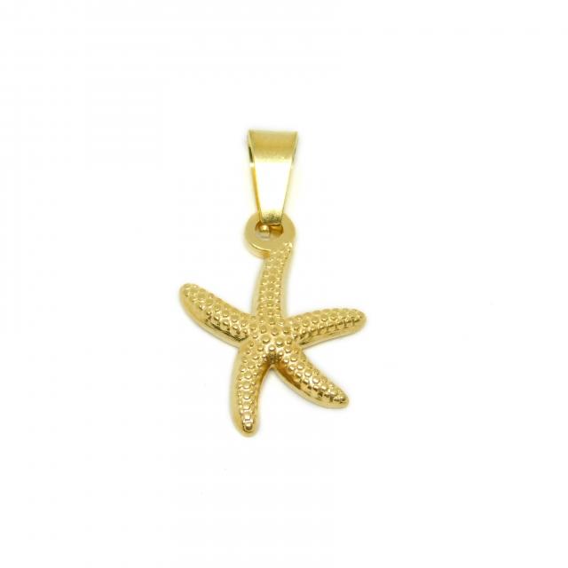 Dije Acero Dorado Estrella de Mar